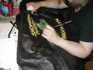 Working on a Shopworn Angel Jacket