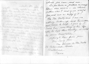 Consolation letter from Mrs. McNulty contd.