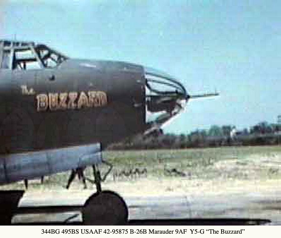 344BG495BS USAAF-42-95875-B-26B-Marauder-9AF--Y5-G-The-Buzzard-01