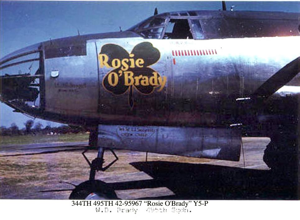 344TH 495TH 42-95967 ROSIE O'BRADY Y5-P