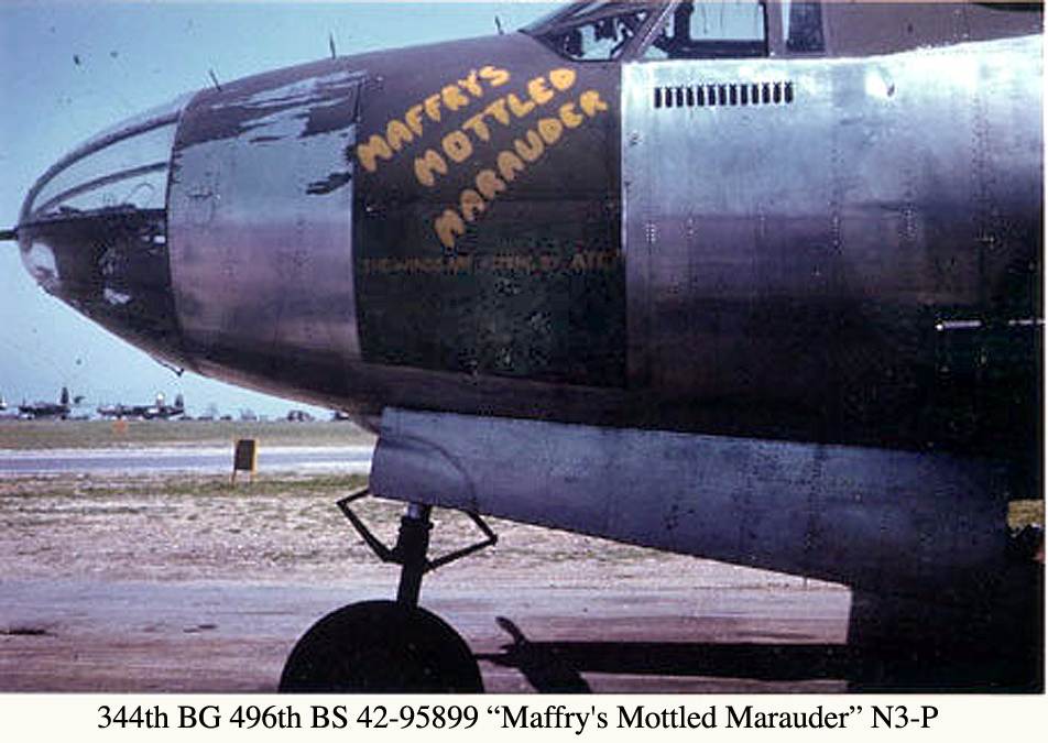 344TH 496TH 42-95899 Maffry's Mottled Marauder N3-P