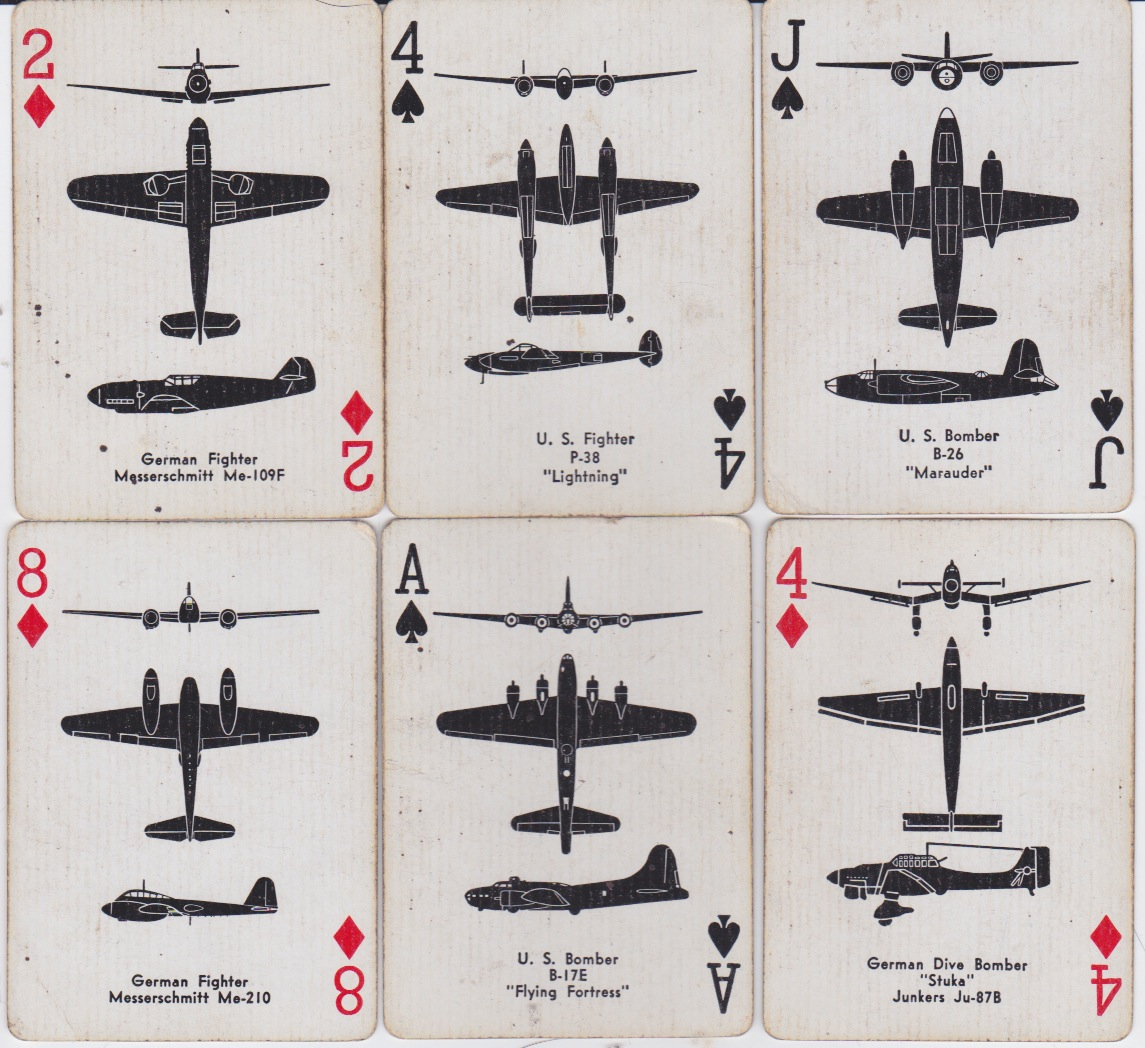 344th Bomb Group Airplane Spotter Playing Cards Icelandic Cards