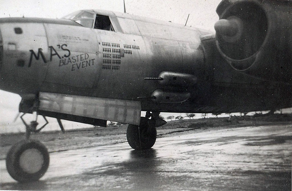 """""""Our plane, Ma's Blasted Event. My crew chief and I kept the plane in good flying condition."""""""