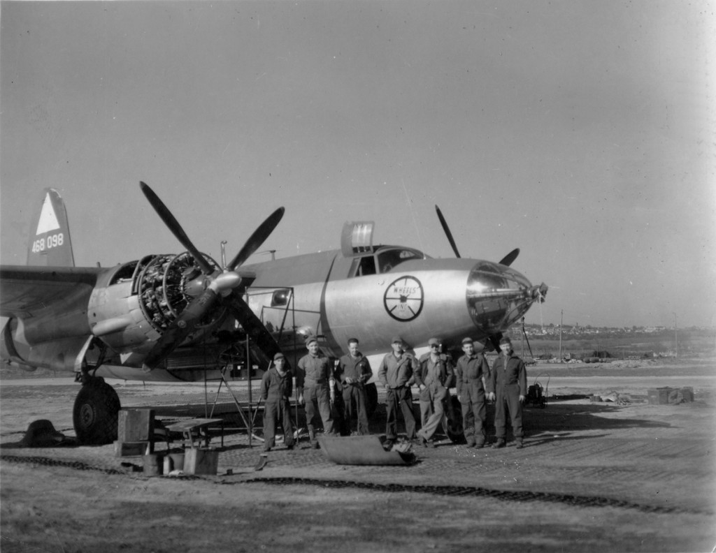 Wheels Inc. with crew. 344th BG 495th BS
