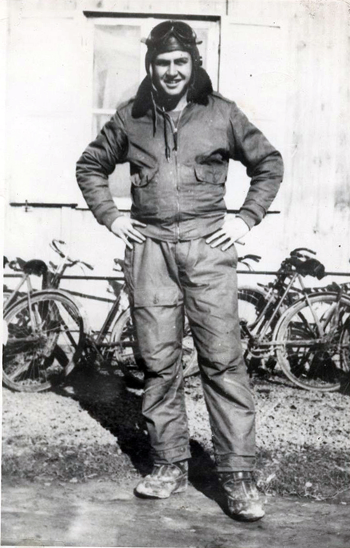 George W. Crittenden in his flight suit.