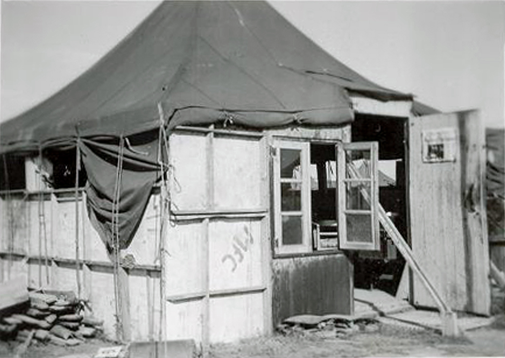 Crittenden's tent in France