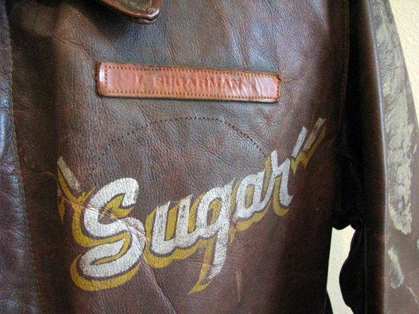 Leather nametag indicates Sugarman was an original member of the 344th BG according to Don Moomaw