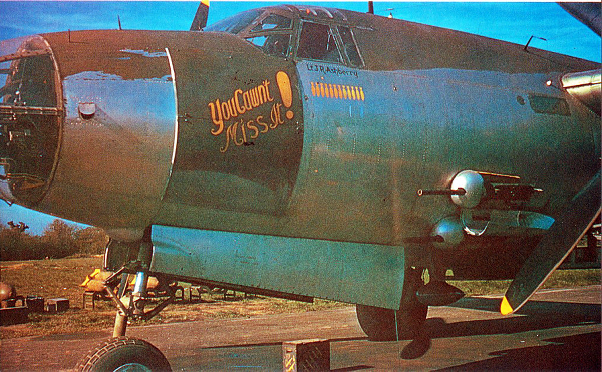"344th BG ""You Cawnt Miss It"" oftehn Flown by J.R. Ashberry."