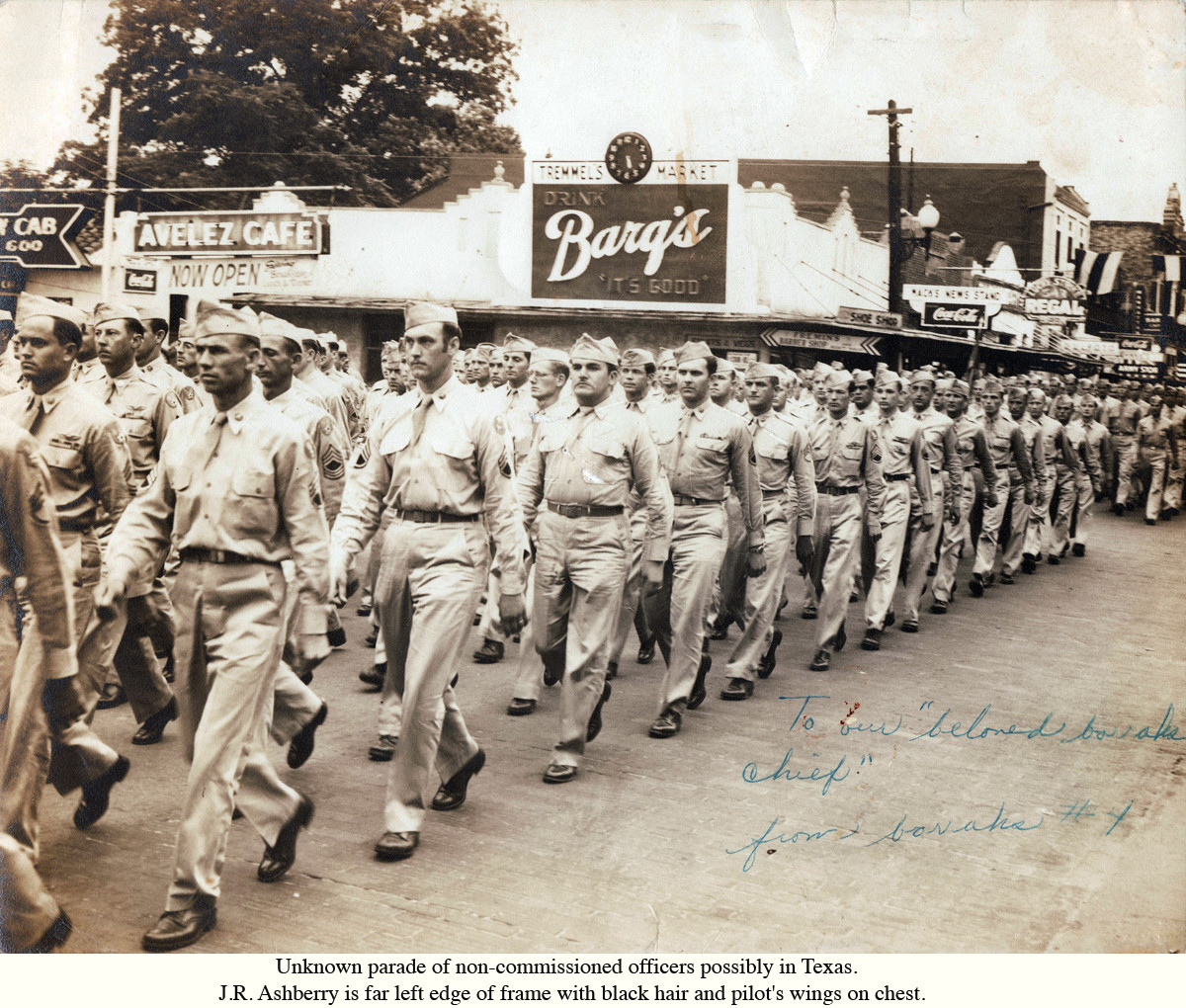 Unknown Parade (Dad is left front inside line)