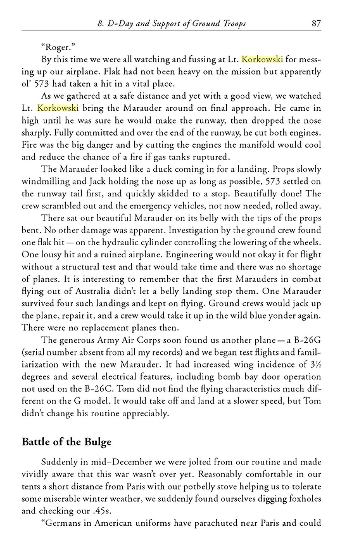 p87 Corky B-26 book Moore