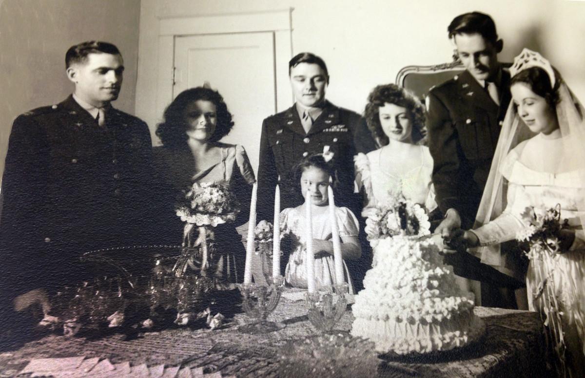 Carl Moore's Wedding. George, Sue's Cousin, Otto Kirkpatrick, Sue's 2nd cousin, Carl & Susan Moore