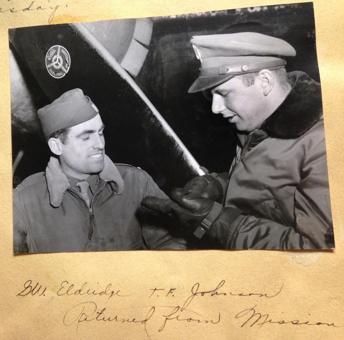 Returning from mission, George Eldridge, Tom Johnson