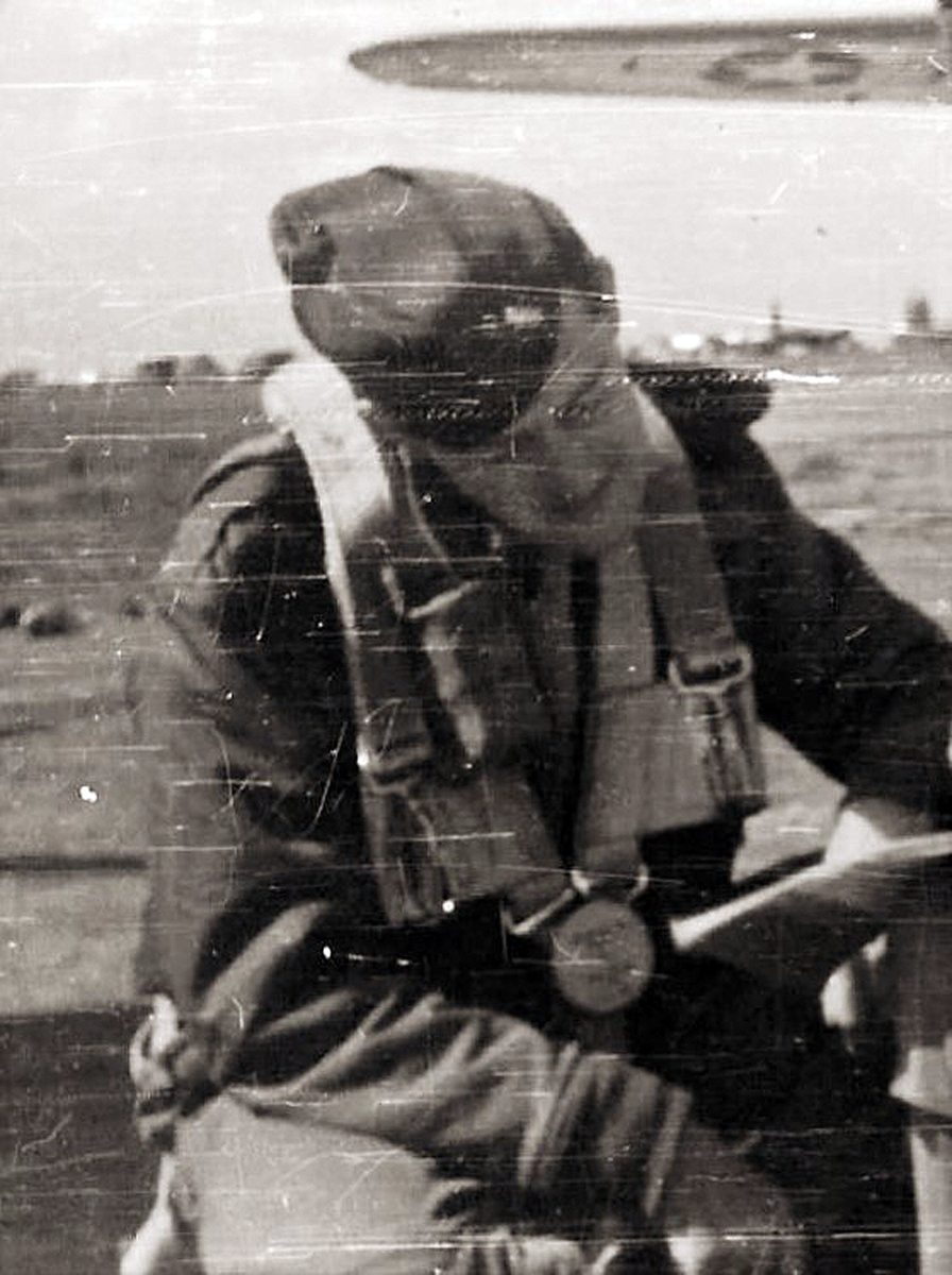 1stLt. Michael Sopronyi Pre-Flight Check WWII