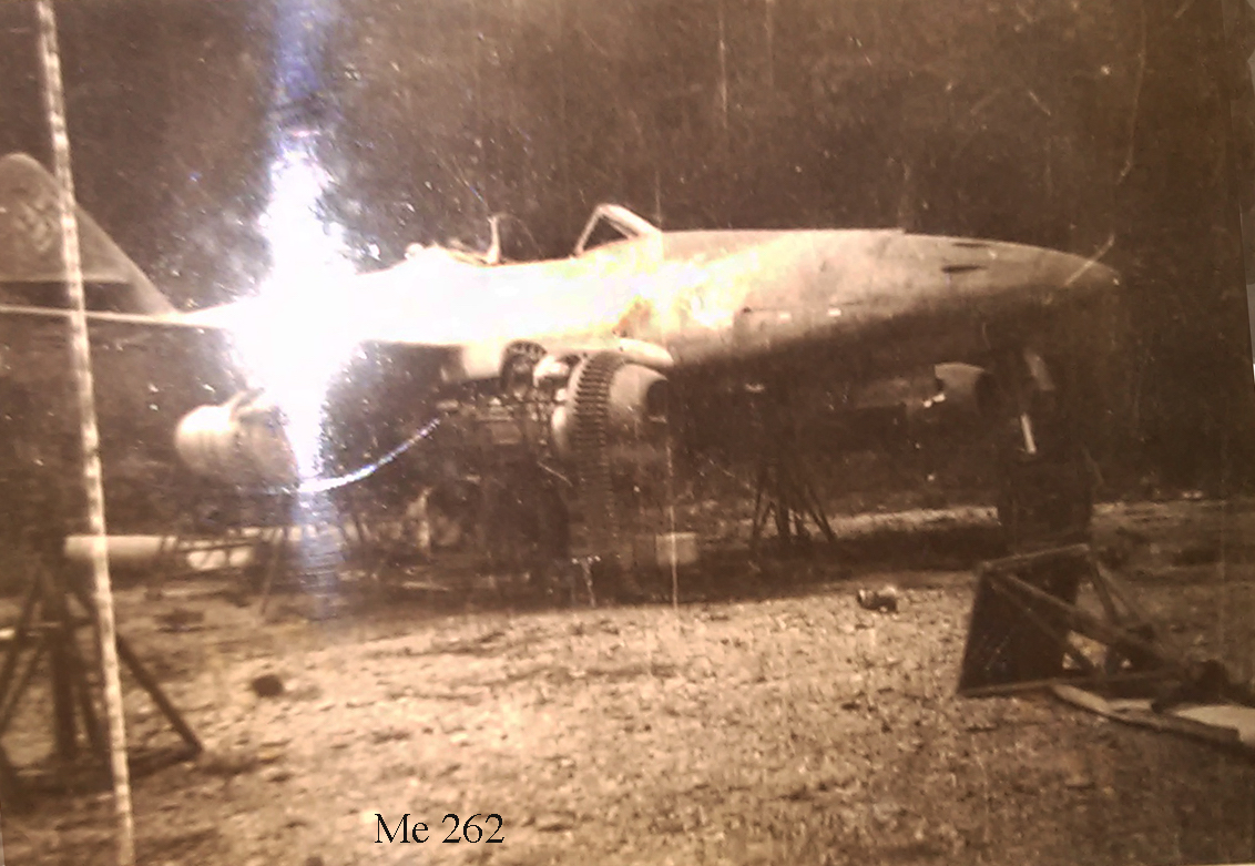 E Crossan Me262 after war