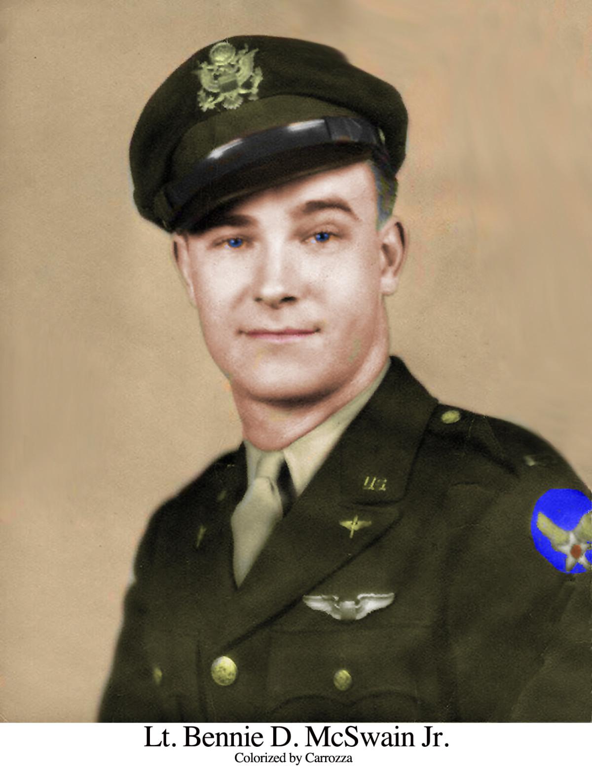 McSwain war portrait Colorized