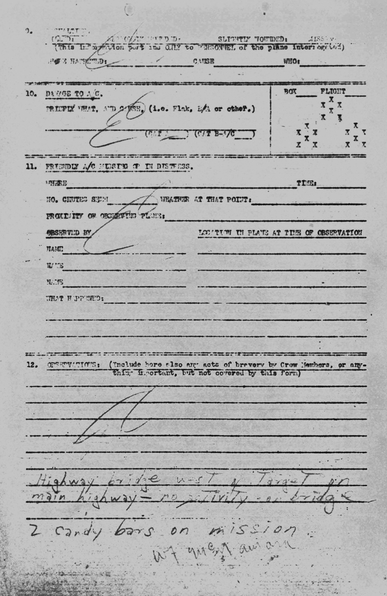 April 11, 1945 Pilot Moses debrief page 2