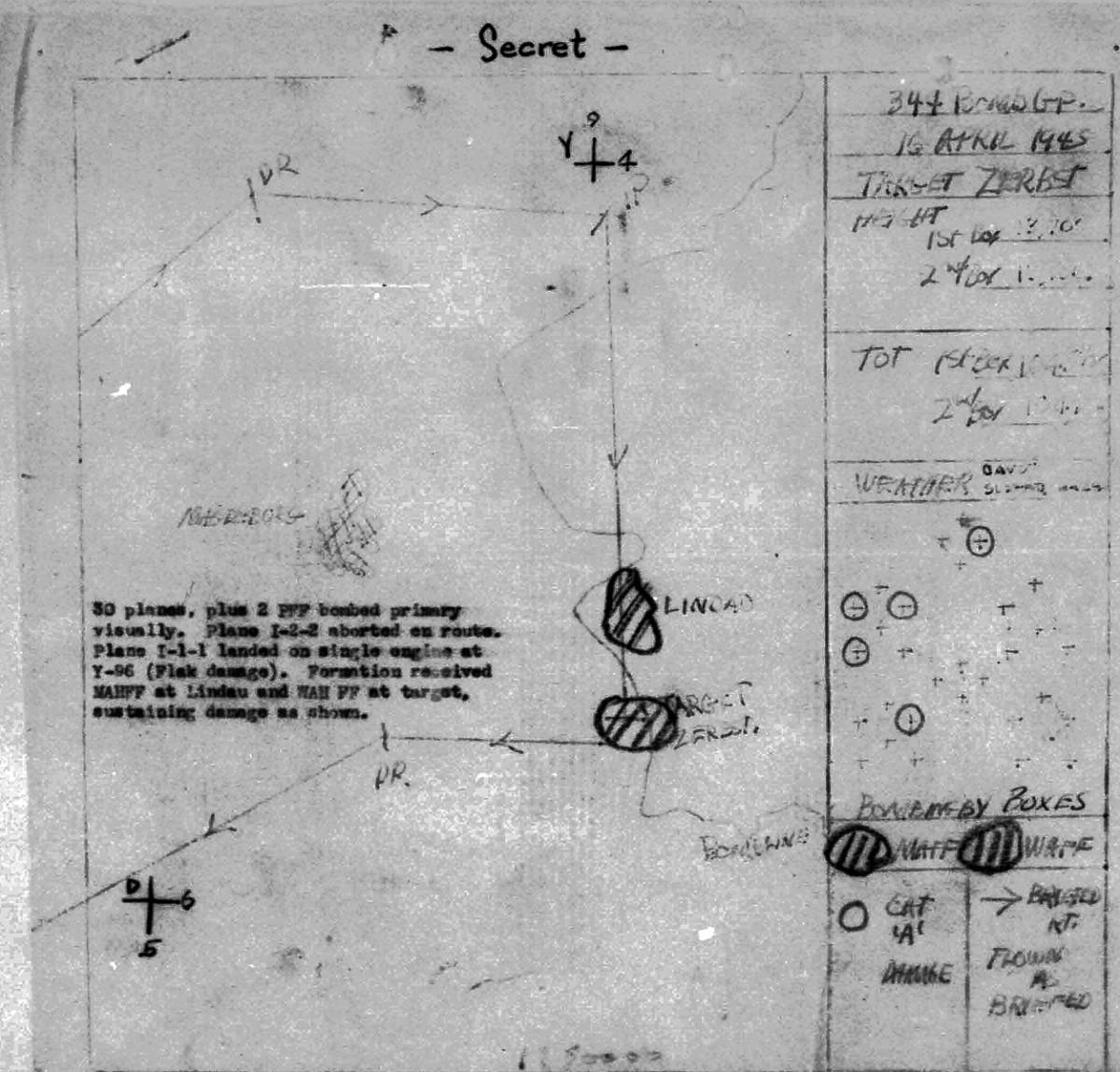 April 16, 1945 Map