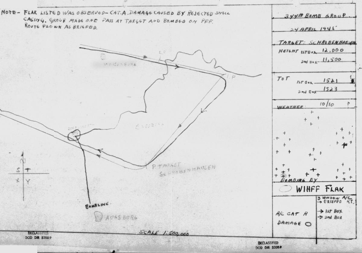 April 24, 1945 Map