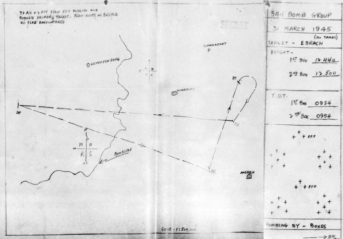 March 31, 1945 Map