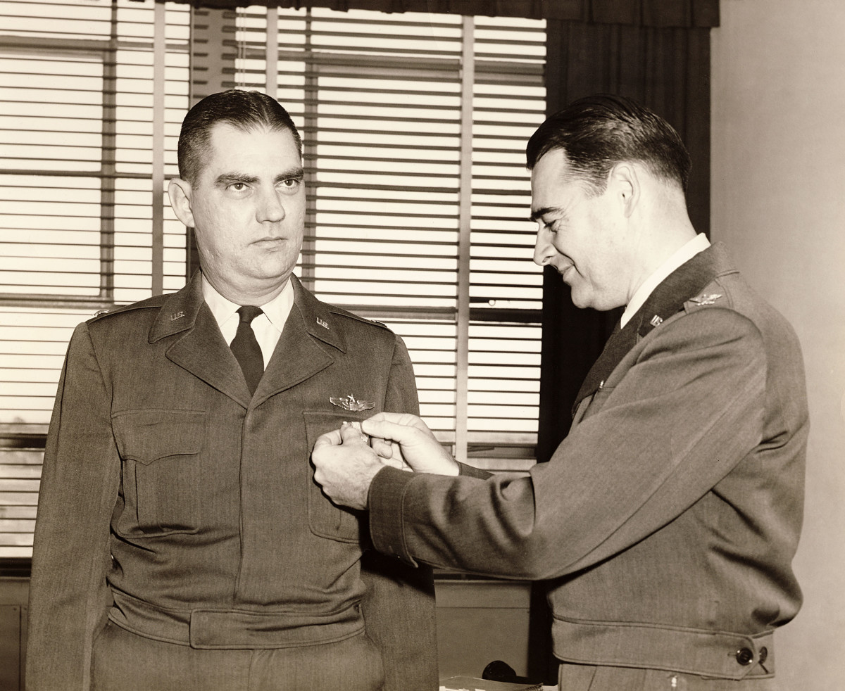 JCG Commendation Ribbon Receiving as Senior Pilot