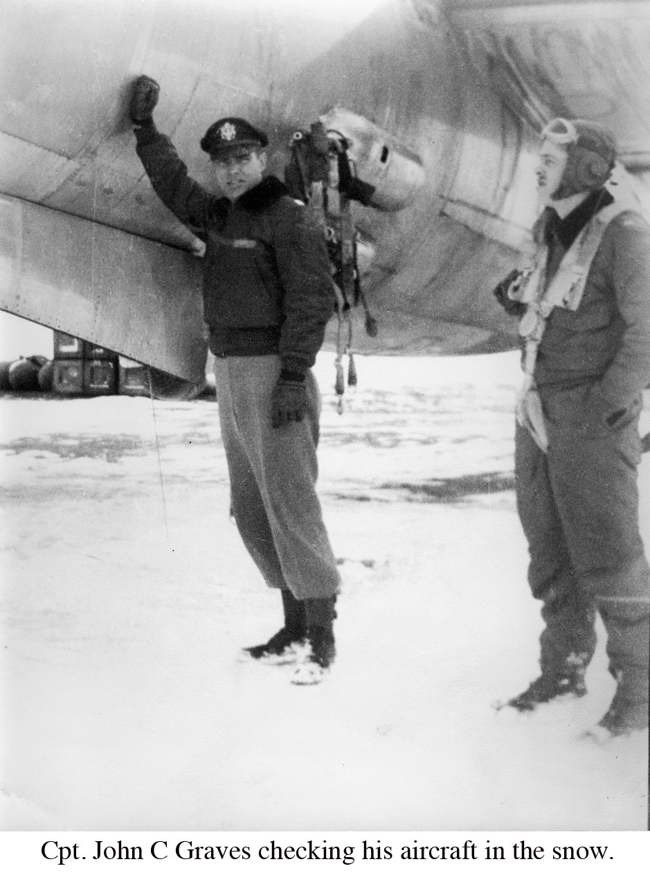 John C Graves Outside checking aircraft