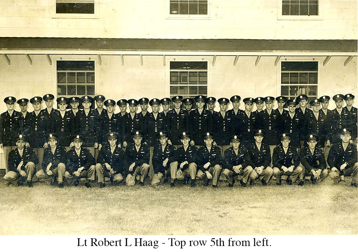 Lt Robert L Haag - Top row 5th from left. I guess from his graduating class