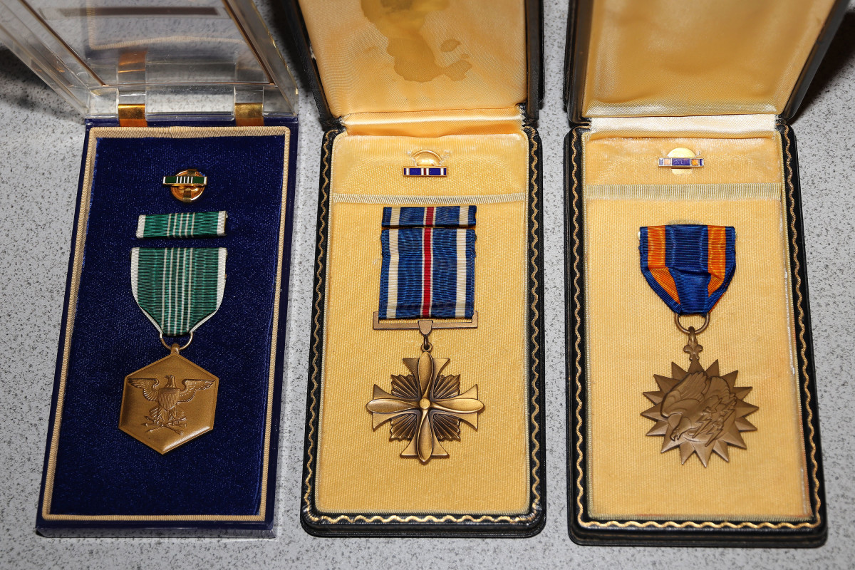 Graves medals: Commendation, DFC, Air Medal