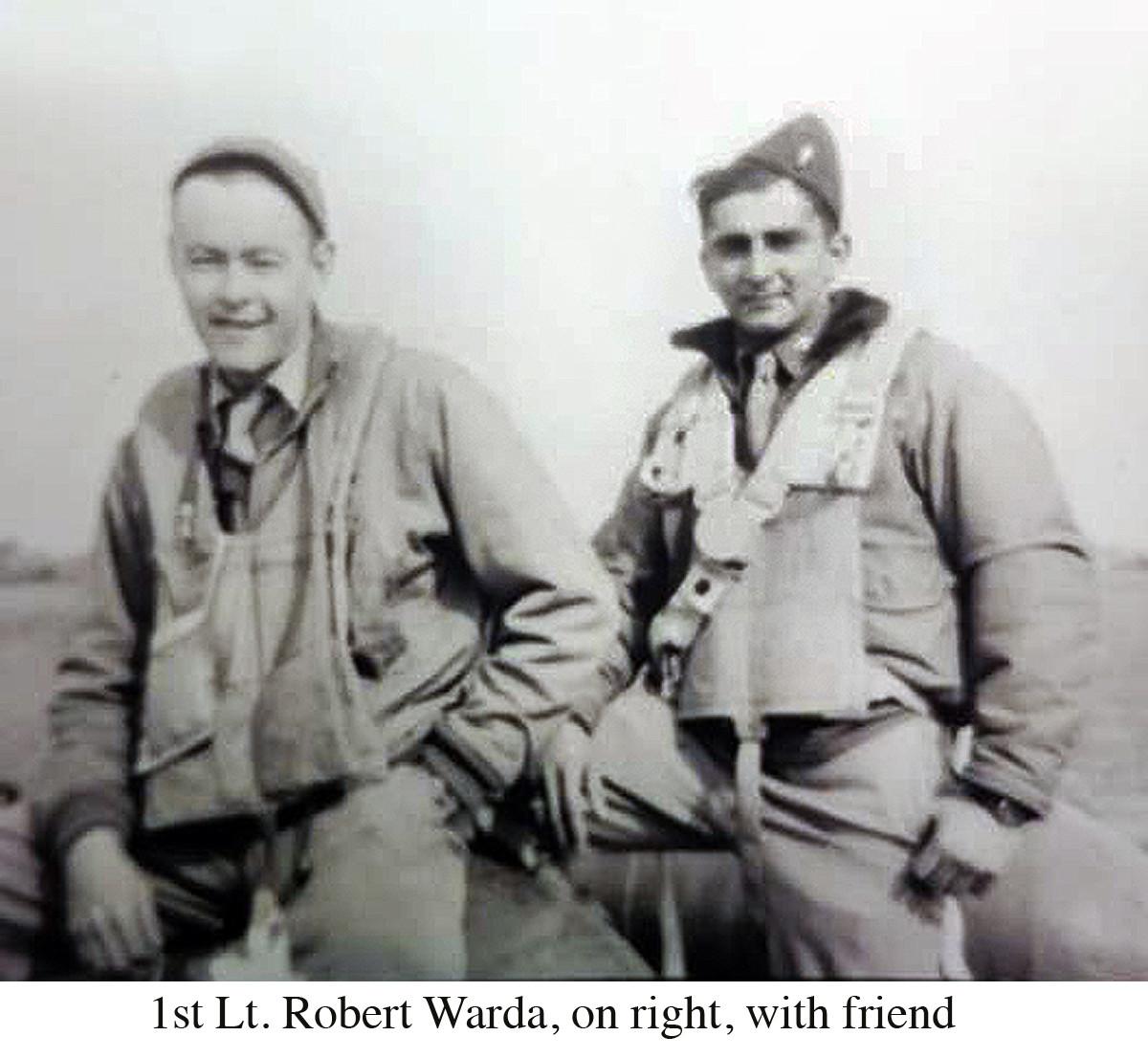 1st Lt. Robert Warda with friend copy
