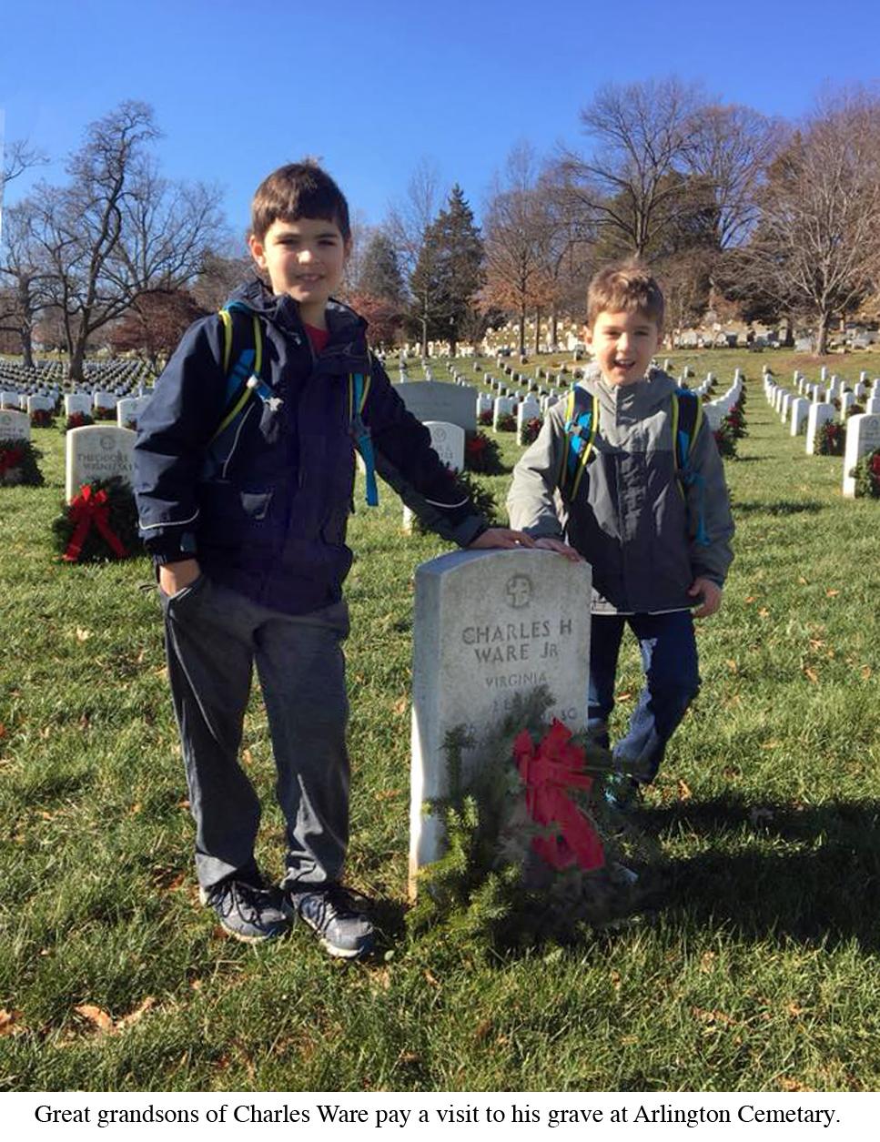 2nd Lt. Charles Henry Ware Jr. great grandkids