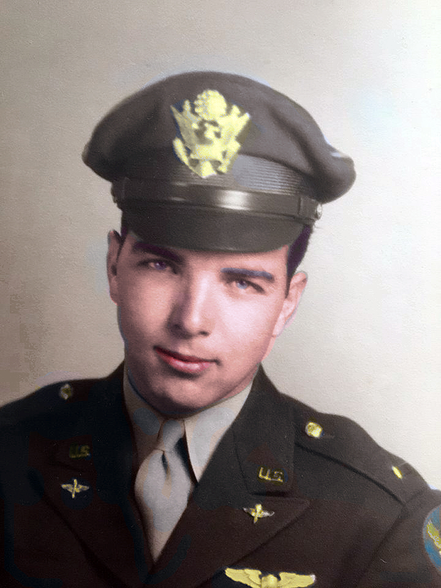 2nd Lt. Charles Henry Ware Jr. in uniform Colorized copy