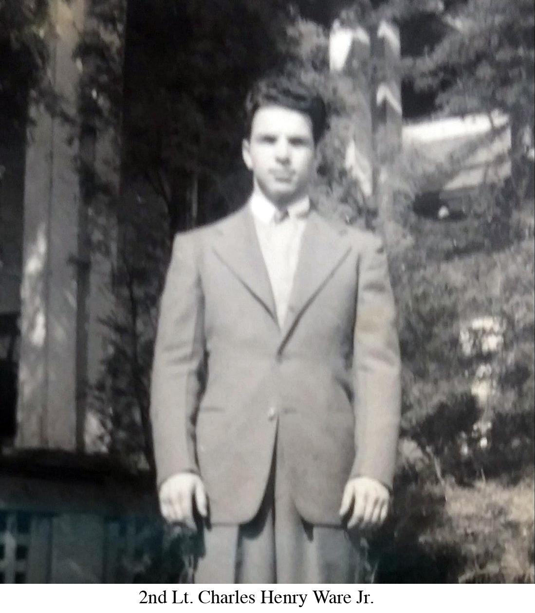 2nd Lt. Charles Henry Ware Jr. suit