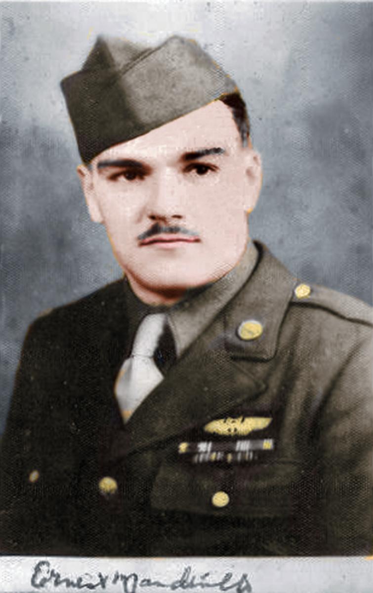 Ernie Mandeville portrait Colorized
