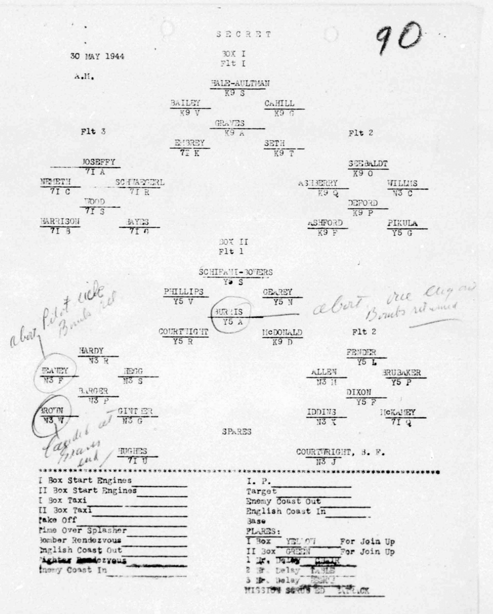 May 30, 1944 Formation copy
