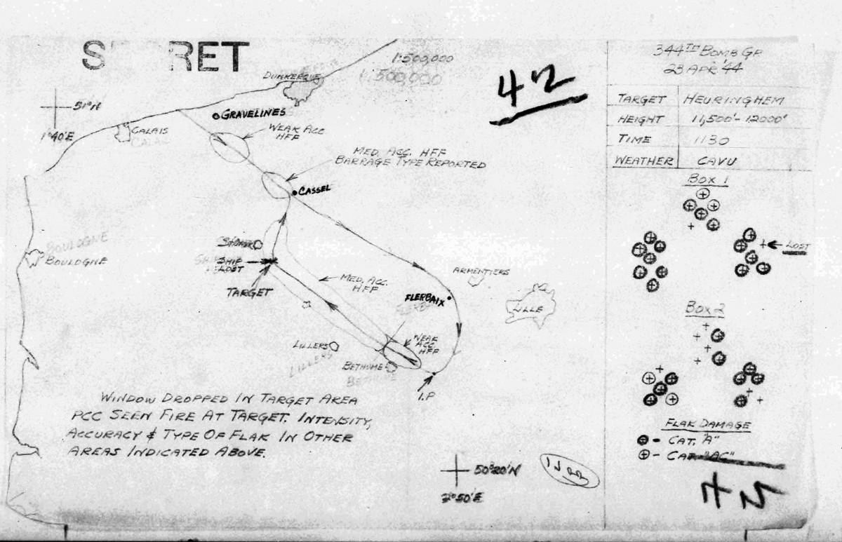 B0288 p 310 April 23, 1944 Map