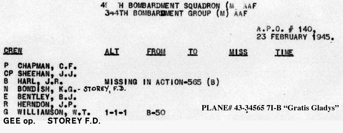 Chapman Storey LL B0297 p1848 Feb 23, 1945