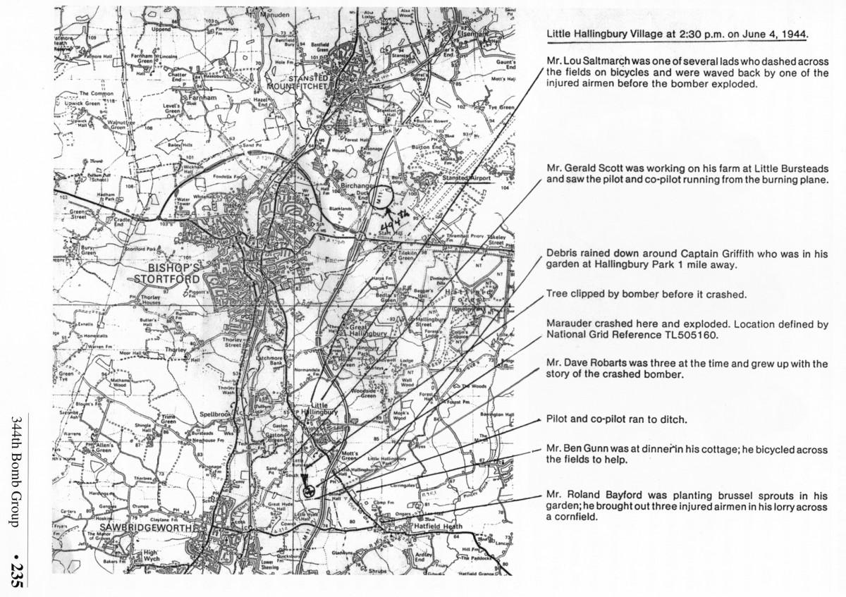 George Lyons crash map
