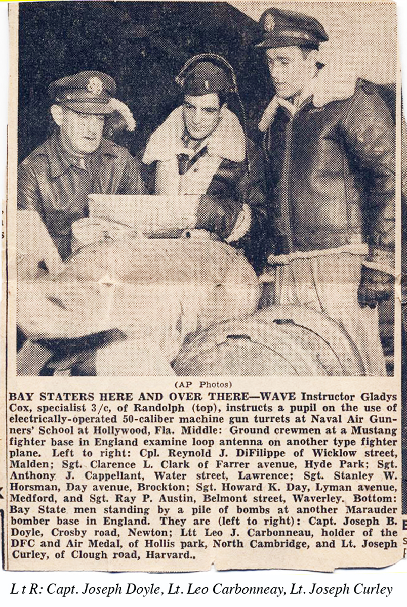 1st lt Joe Curley news clipping