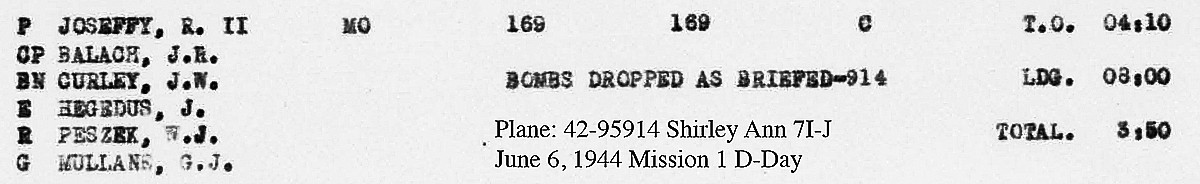 Curley D-Day mission 1 LL