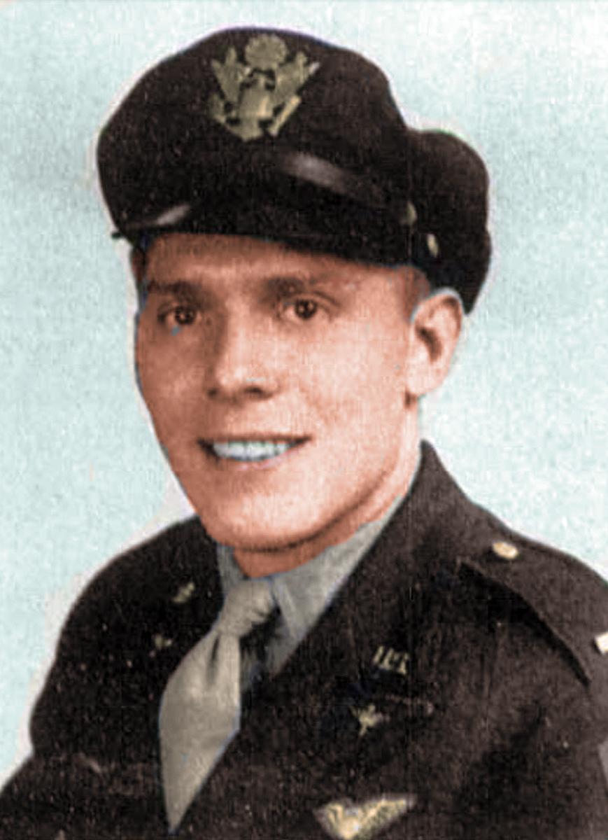2nd Lt Edward Borresen colorized