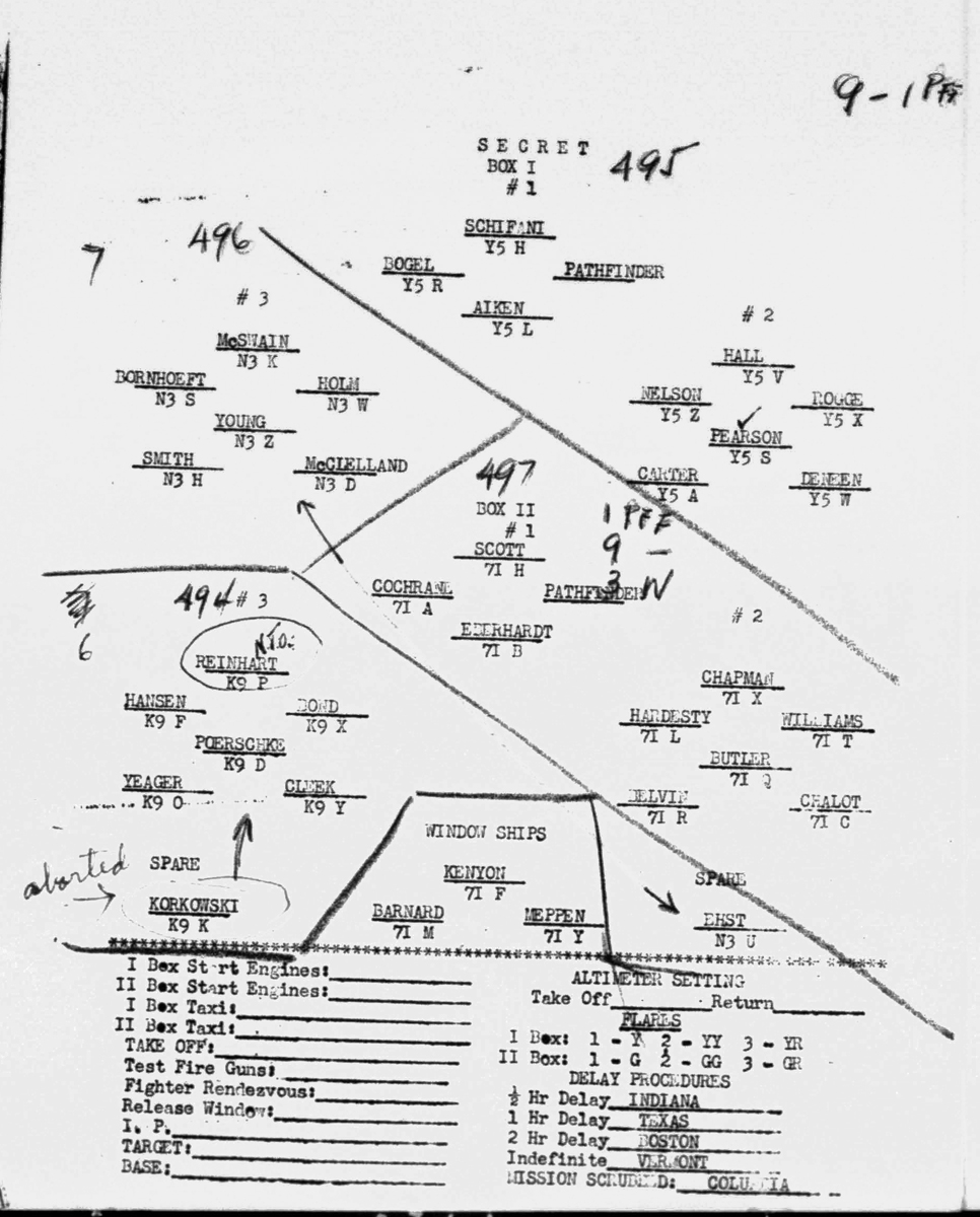 Not Young's position in the formation Dec 23, 1944.