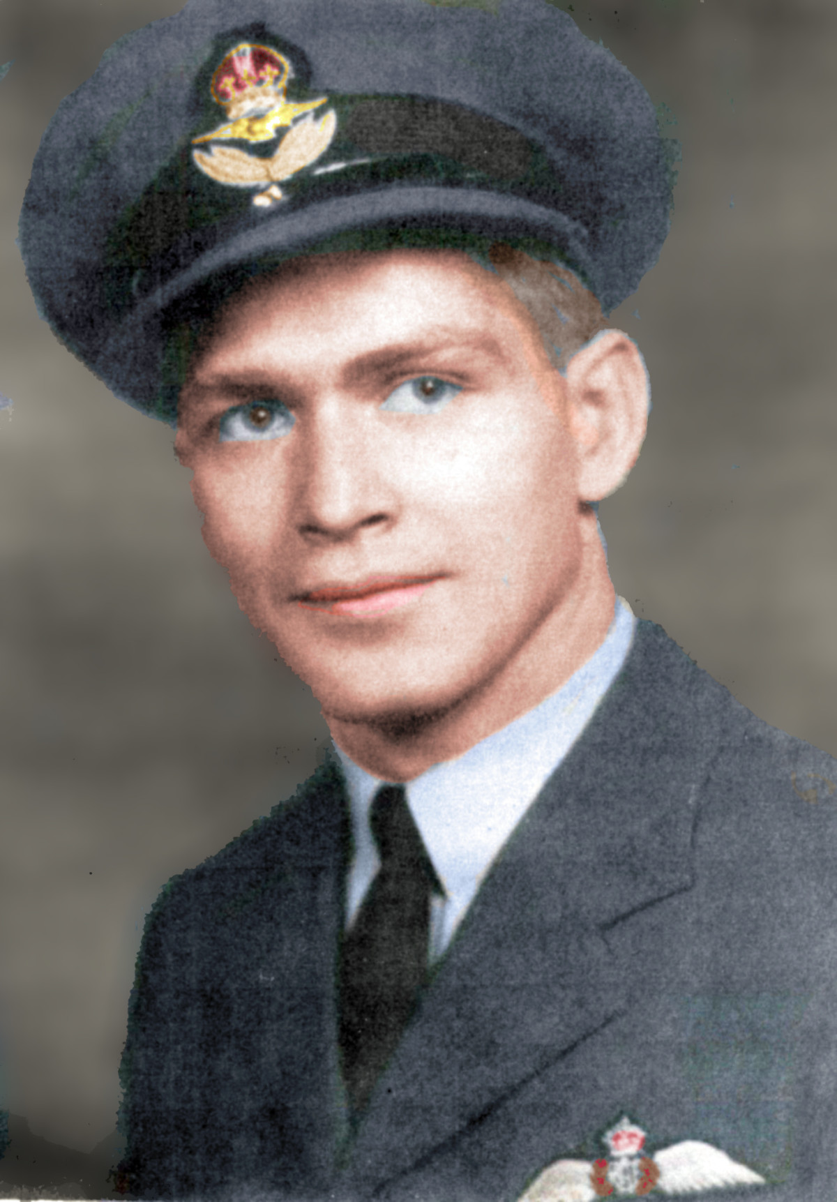 Glenn Young RCAF Colorized