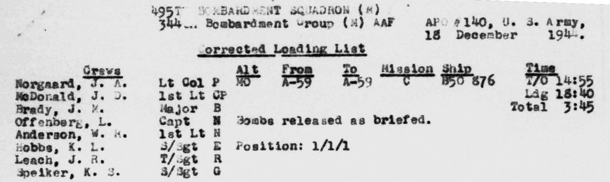 B0296 p 143 Norgaard LL Dec 18, 1944