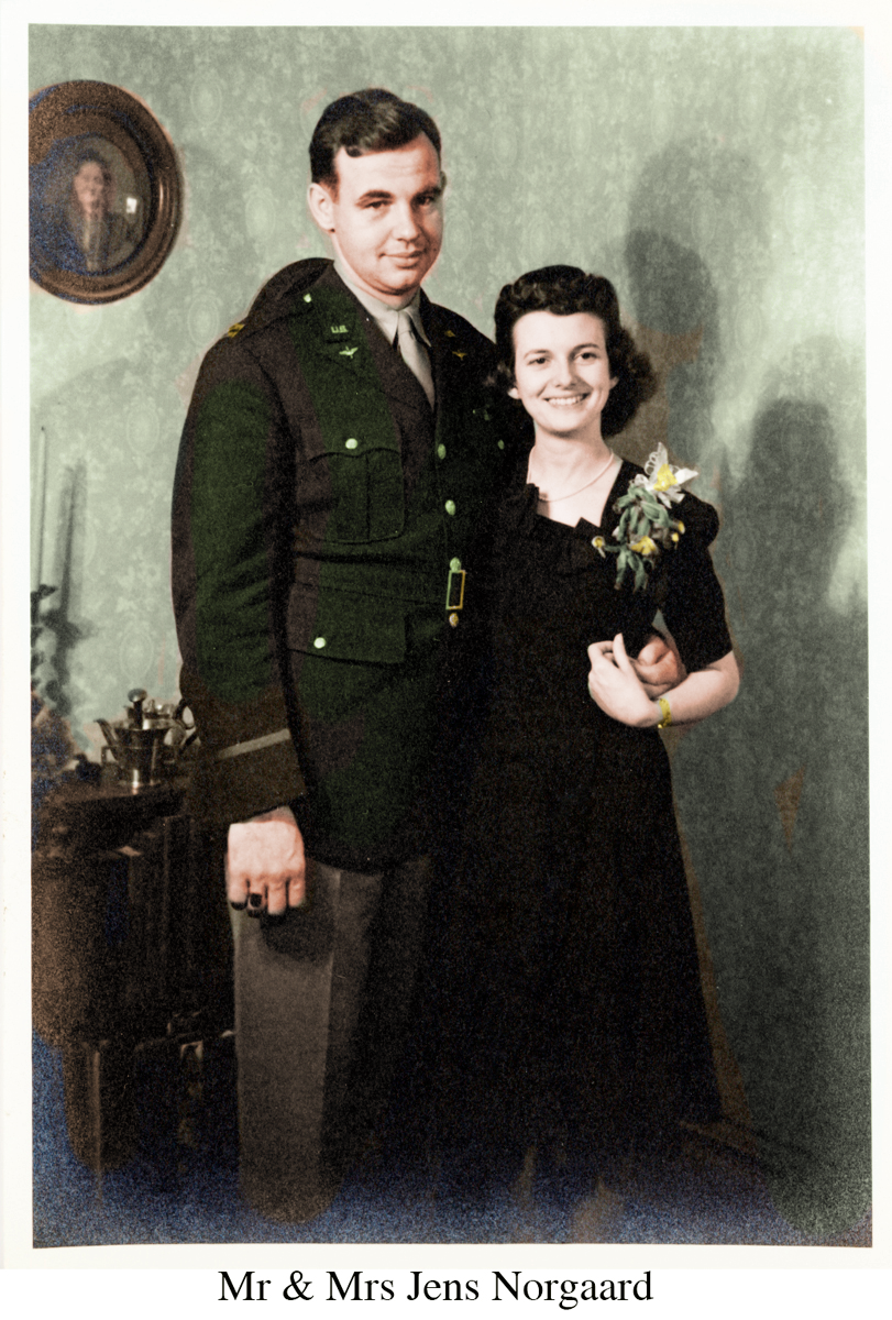 Mr and Mrs Norgaard Colorized