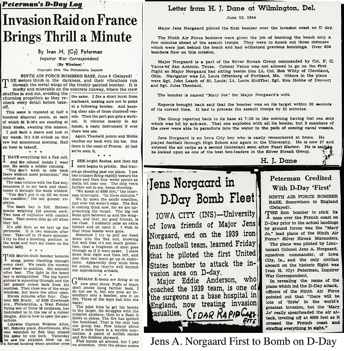 Norgaard Leads D-Day clippings