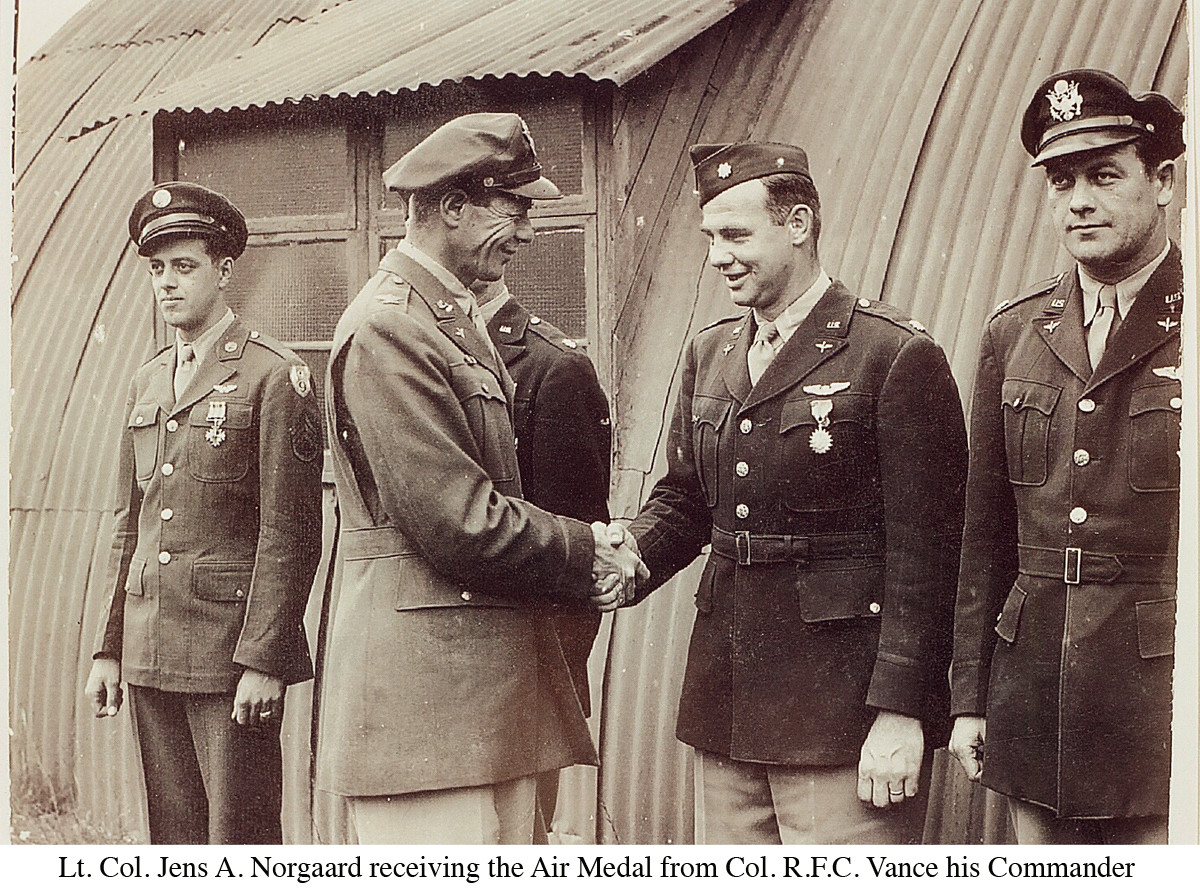 Norgaard Receiving Air Medal