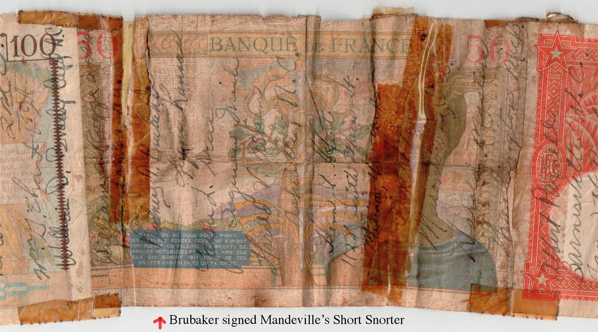 Brubaker signed Mandeville short snorter