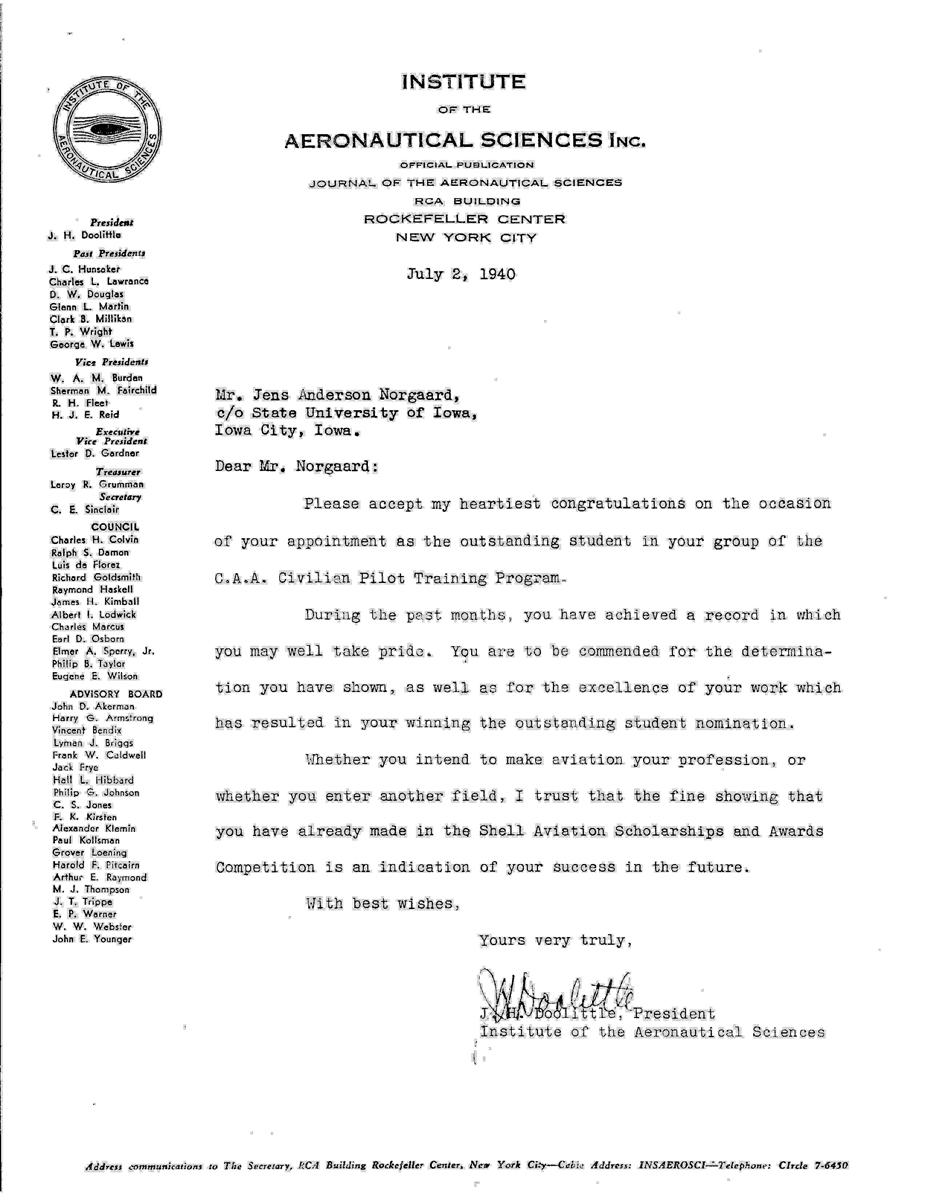 J.H. Doolittle letter 001
