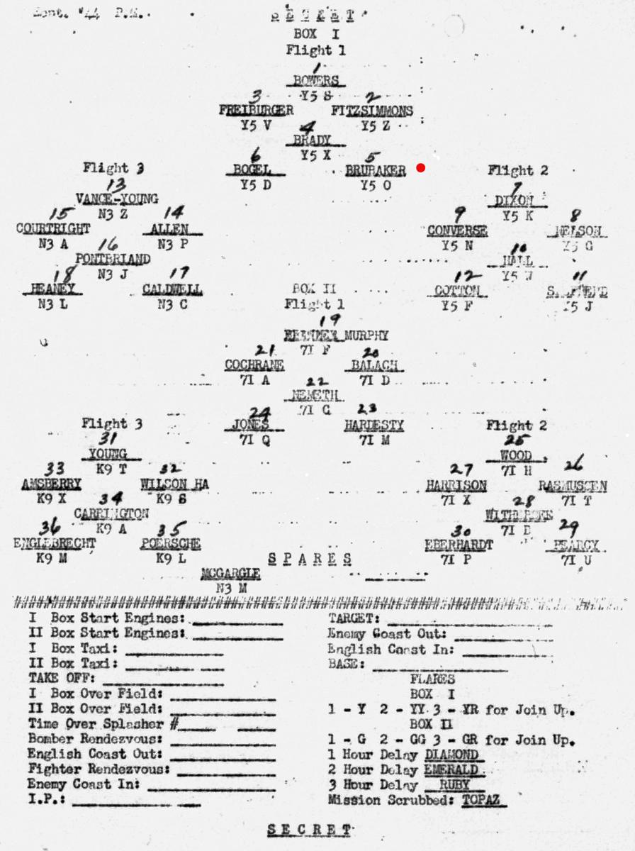 B0293A p274 Sept 3, 1944 Formation Brubaker