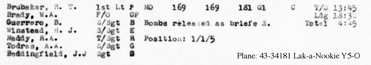 B0293A p277 Sept 3, 1944 Brubaker LL