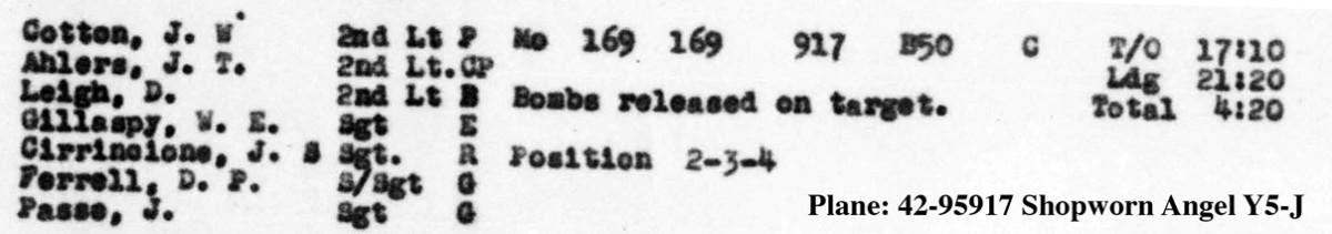 B0294 p54 Sept 5, 1944 LL Cirrincione Cotton